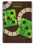 No653 My Jumanji Minimal Movie Poster Spiral Notebook
