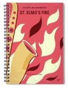 No657 My St Elmos Fire Minimal Movie Poster Spiral Notebook