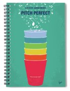 No660 My Pitch Perfect Minimal Movie Poster Spiral Notebook