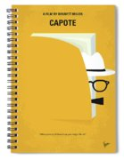 No671 My Capote Minimal Movie Poster Spiral Notebook
