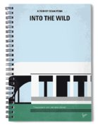 No677 My Into The Wild Minimal Movie Poster Spiral Notebook