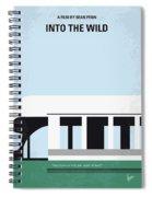 No677 My Into The Wild Minimal Movie Poster Spiral Notebook