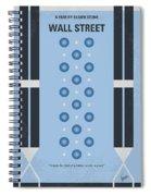 No683 My Wall Street Minimal Movie Poster Spiral Notebook