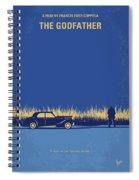 No686-1 My Godfather I Minimal Movie Poster Spiral Notebook