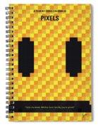 No703 My Pixels Minimal Movie Poster Spiral Notebook