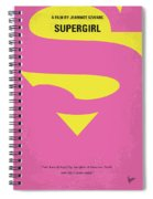 No720 My Supergirl Minimal Movie Poster Spiral Notebook