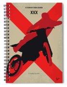 No728 My Xxx Minimal Movie Poster Spiral Notebook