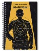 No740 My Death Wish Minimal Movie Poster Spiral Notebook