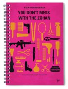 No743 My You Dont Mess With The Zohan Minimal Movie Poster Spiral Notebook