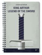 No751 My King Arthur Legend Of The Sword Minimal Movie Poster Spiral Notebook