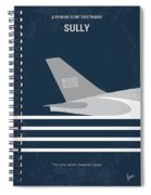No754 My Sully Minimal Movie Poster Spiral Notebook