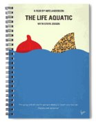 No774 My The Life Aquatic With Steve Zissou Minimal Movie Poster Spiral Notebook