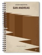 No810 My San Andreas Minimal Movie Poster Spiral Notebook