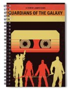 No812 My Guardians Of The Galaxy Minimal Movie Poster Spiral Notebook
