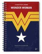 No825 My Wonder Woman Minimal Movie Poster Spiral Notebook