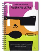 No827 My American Ultra Minimal Movie Poster Spiral Notebook