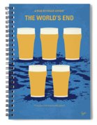 No843 My The Worlds End Minimal Movie Poster Spiral Notebook