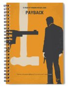 No854 My Payback Minimal Movie Poster Spiral Notebook