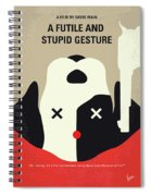No893 My A Futile And Stupid Gesture Minimal Movie Poster Spiral Notebook