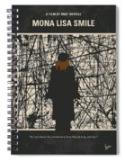 No914 My Mona Lisa Smile Minimal Movie Poster Spiral Notebook