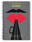 No924 My Ed Wood Minimal Movie Poster Spiral Notebook