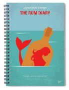 No925 My The Rum Diary Minimal Movie Poster Spiral Notebook