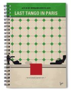 No941 My Last Tango In Paris Minimal Movie Poster Spiral Notebook