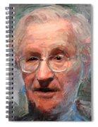 Noam Chomsky Portrait 1059 Spiral Notebook