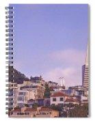 Nob Hill At Sunset Spiral Notebook