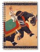 Nobleman Riding Elephant Spiral Notebook