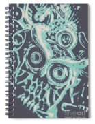 Nocturnal The Blue Owl Spiral Notebook