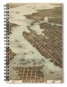 Norfolk And Portsmouth Map Spiral Notebook