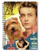 Norfolk Terrier Art Canvas Print - East Of Eden Movie Poster Spiral Notebook