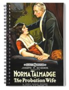 Norma Talmadge In The Probation Wife 1919 Spiral Notebook