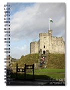 Norman Keep At Cardiff Castle Spiral Notebook