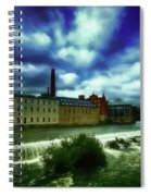 Norrkoping Waterfall Spiral Notebook