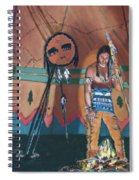 North American Indian Contemplating Spiral Notebook