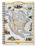 North American Map, 1851 Spiral Notebook