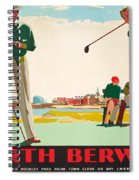 North Berwick, A London And North Eastern Railway Vintage Advertising Poster Spiral Notebook