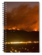 North Boulder Colorado Fire Above In The Hills Spiral Notebook