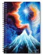 North Caucasus Mountains, Sunset. My Homeland Spiral Notebook