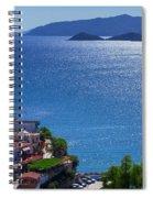 North Coast Of Crete In Bali Spiral Notebook