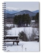 North Conway Winter Mountains Spiral Notebook