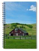North Dakota Barn Spiral Notebook
