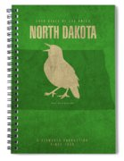 North Dakota State Facts Minimalist Movie Poster Art Spiral Notebook