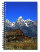 North Moulton Barn Grand Tetons Spiral Notebook