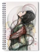 Beautiful Lady Spiral Notebook