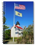 North Wind At East Point Light Spiral Notebook
