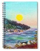 North With Yellow Sun Spiral Notebook