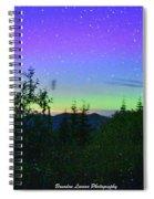 Northern Lights At Mount Pilchuck Spiral Notebook